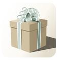 Gift box whit big ribbon vector image