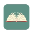 Opened book with pages fluttering flat icon vector image