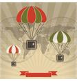 Parachutes to Parcels vector image