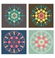 Set of 4 colored versions geometry mandala pattern vector image