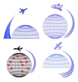 Set of Airplane Icons Isolated vector image