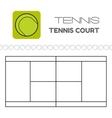 Tennis ball and court Flat sports icon vector image