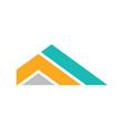 triangle stripe company logo vector image