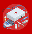 flat concept of online medical support family vector image