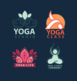 yoga studio body and mind logotype vector image