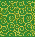 twirl damask vintage seamless pattern vector image