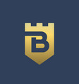 letter b shield logo icon design template elements vector image