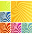 rays backgrounds vector image