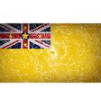 Flags Niue with broken glass texture vector image