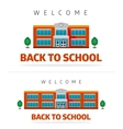 School building with slogan vector image