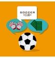 Soccer club design vector image