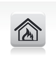 house burning icon vector image vector image