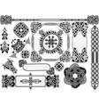 Set of elements of design vector image vector image