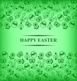 easter muzzle card green vector image