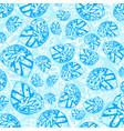 blue marine underwater nature background vector image