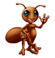 cartoon ant mascot vector image