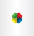colorful logo heart circle love icon vector image