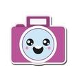kawaii photographic camera icon vector image