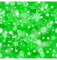 Shiny green winter seamless pattern vector image