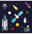Space travel symbols infographic Cosmos vector image