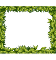 Border made of leaves vector image vector image