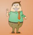 Boss cartoon vector image vector image