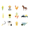 Farmer tools icons vector image