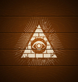 pyramid on wooden background vector image