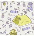 Hand drawn camping seamless pattern vector image
