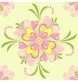 flower heart stripe vector image
