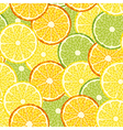 seamless slices of citrus fruit vector image vector image