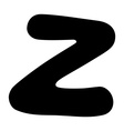 Z capital silhouette vector image