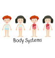 Children and body systems vector image