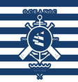 sailing icon blue vector image