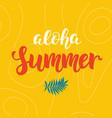 aloha summer modern poster design vector image