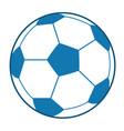 blue soccer ball vector image