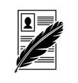 Document black icon vector image