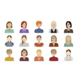 Flat characters vector image