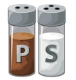 Pepper and salt shaker for kitchen vector image