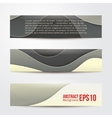 set of abstract grey banners three background vector image