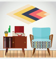small space living room vector image