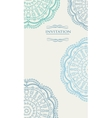 Beautiful blue invitation card vector image vector image