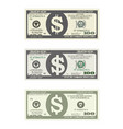 bill one hundred dollars in three options vector image