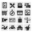 vacation travel icon set vector image vector image