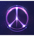 Neon light pacific symbol vector image