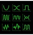 Oscilloscope Signal Set vector image