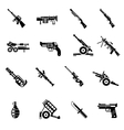 Weapon Icons Black vector image