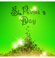 Saint Patrick Day Abstract Background vector image vector image