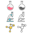 Science icons pack vector image