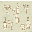 Alkohol Drinks Set vector image vector image